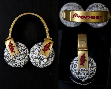 Gold Custom Headphones